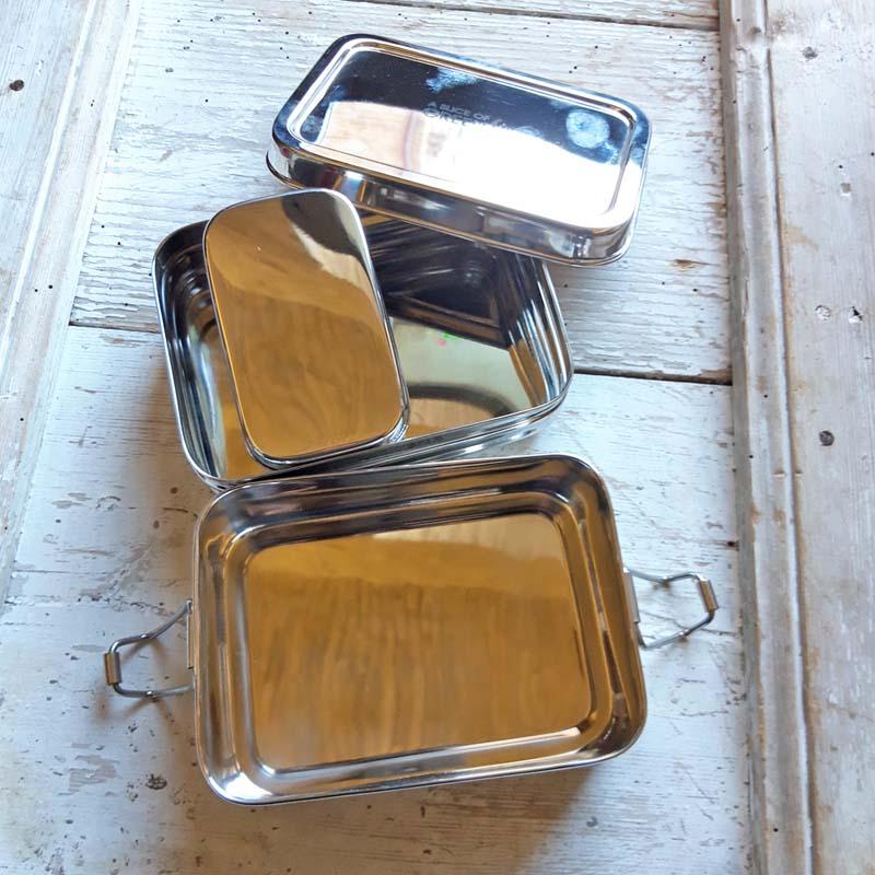 Contenitori porta pranzo in acciaio