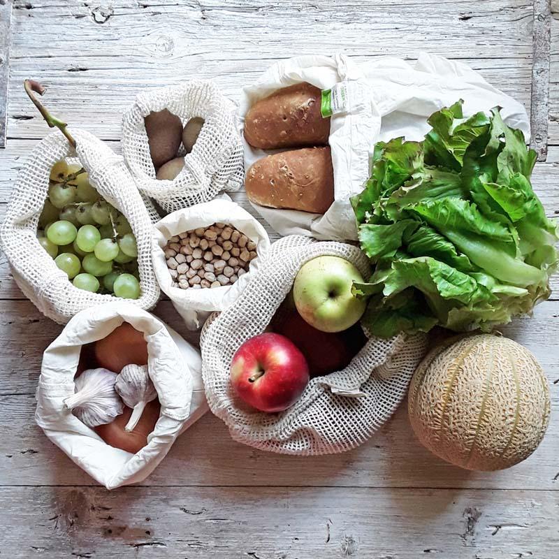 Sacchetti in cotone per frutta e verdura