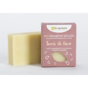 Shampoo solido ai semi di lino (100gr)