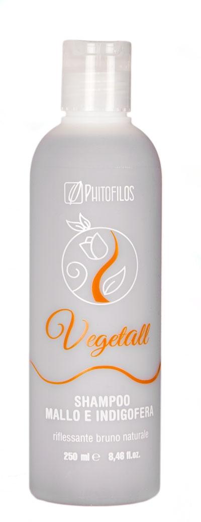 VegetAll Shampoo mallo e indigofera riflesso castano (250ml)