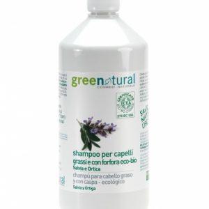 Shampoo antiforfora e capelli grassi biologico salvia e ortica (1l)