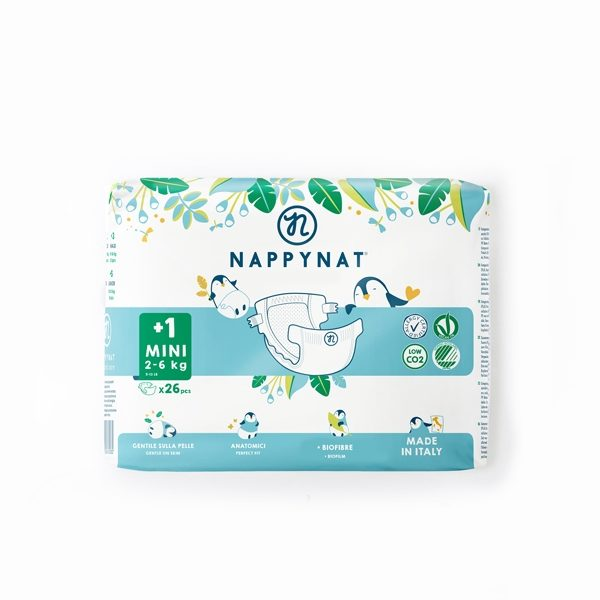 Pannolino ecologico Taglia 1+ Mini 2-6kg (26pz)