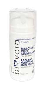 Maschera viso illuminante purificante per pelli sensibili (100ml)