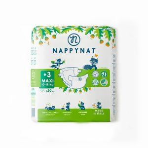 Pannolino ecologico Taglia 3+ Maxi 8-16kg (20pz)