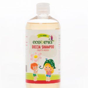 Ecovera kids Doccia Shampoo Frutti Rossi (500ml)