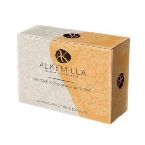 Sapone artigianale lenitivo al profumo di tiglio e mimosa (100gr)