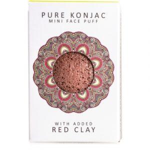 Mini spugna di Konjac con argilla rossa francese - per pelli secche o mature
