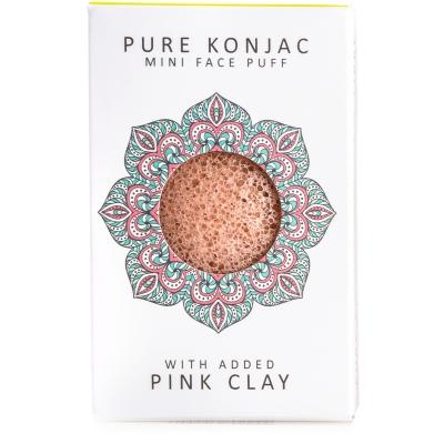 Mini spugna di Konjac con argilla rosa francese - per pelli sensibili