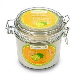 Candela in cera di soia Limone Verde e Citronella - STOP ZANZARE (350gr)