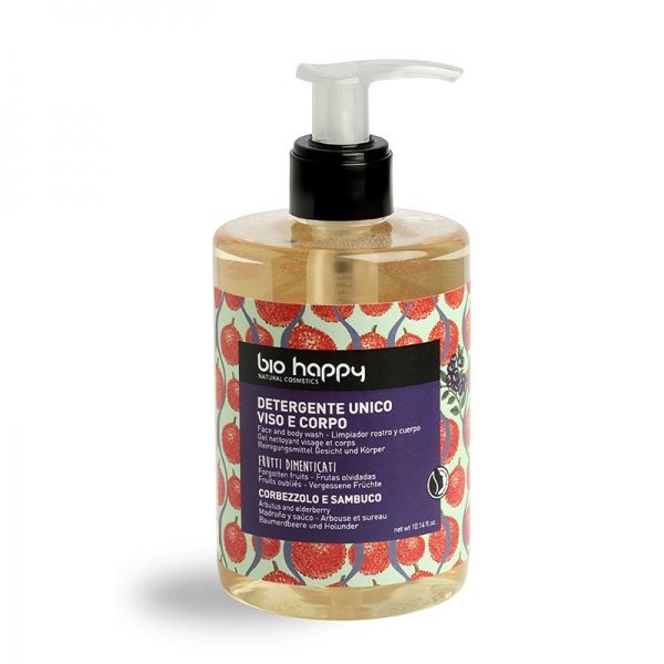 Detergente unico viso e corpo Corbezzolo e sambuco (300ml)